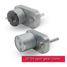 China L Shape DC Spur Gear Motor 12v 24v High Torque DC Motor With Threaded Shaft supplier