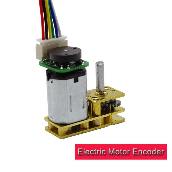 3ppr / 12cpr Electric Motor Encoder L Shape Spur Gearbox