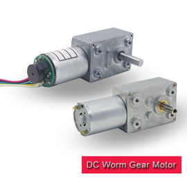 120 rpm Worm Gear Motor 12v High Torque Customized With 12 Ppr / 16 Ppr Encoder