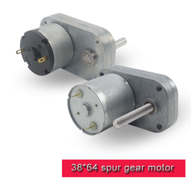 L Shape DC Spur Gear Motor 12v 24v High Torque DC Motor With Threaded Shaft