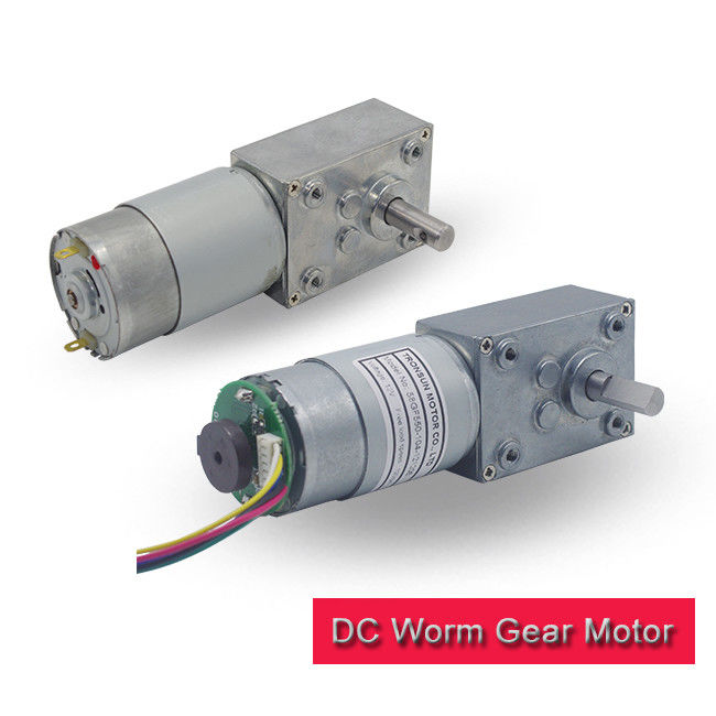 High Torque Worm Gear Motor 12v , 30kg.Cm 120 RPM Gear Motor With Encoder