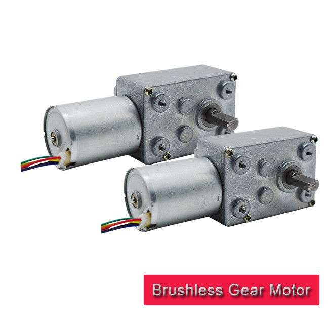 6v 12v 24v Brushless DC Worm Gear Motor , High Torque Brushless Motor For Home Appliance